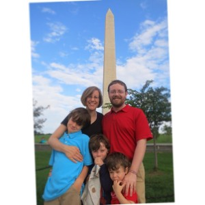 The Scotts with the Monument