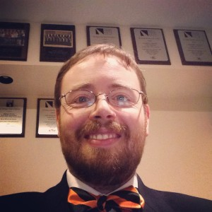 Wearing my Rockford Aces Bow Tie